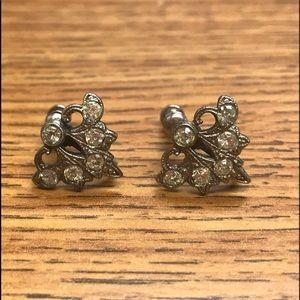 Vintage Antique Sterling Silver Earrings